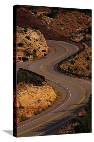 Winding Highway-Paul Souders-Stretched Canvas Print
