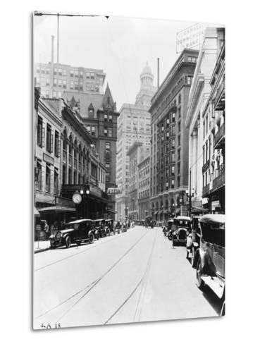 A Downtown Street in New Orleans--Metal Print