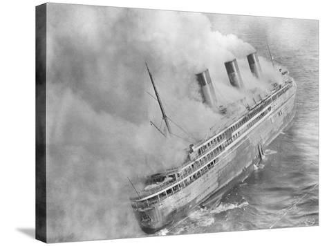 L'Atlantique Aflame Near English Channel--Stretched Canvas Print