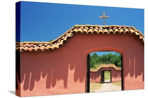 Gates at Mission La Purisima-Richard Cummins-Stretched Canvas Print
