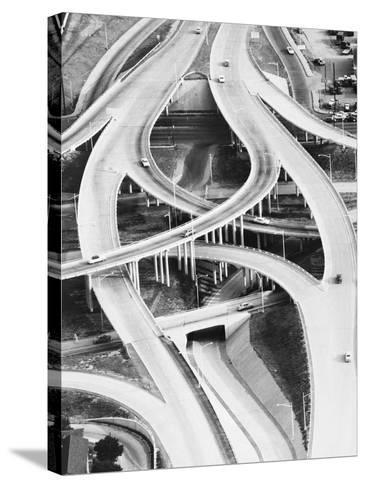 Four-Level Interchange at Turnpike-Philip Gendreau-Stretched Canvas Print