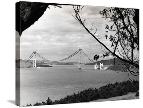 General View of Golden Gate Bridge--Stretched Canvas Print