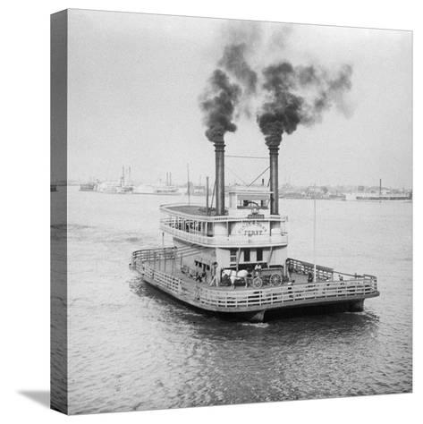 Ferry Boat on the Mississippi River--Stretched Canvas Print