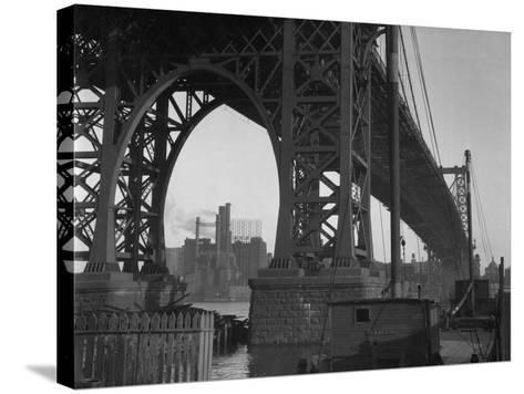 Williamsburg Bridge Spanning East River-Philip Gendreau-Stretched Canvas Print