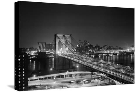 Brooklyn Bridge at Night-Philip Gendreau-Stretched Canvas Print