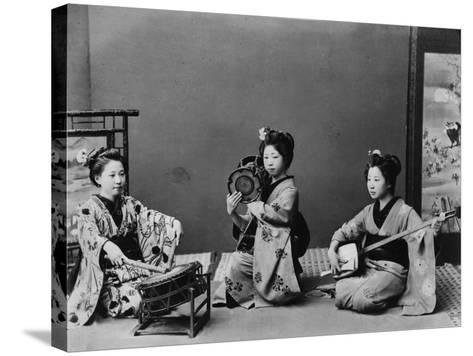 Women Playing Traditional Japanese Instruments--Stretched Canvas Print