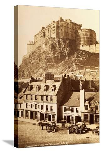 View of Edinburgh Castle from the Grassmarket--Stretched Canvas Print