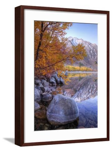 Autumn Landscape at June Lake-Vincent James-Framed Art Print