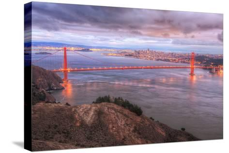 Storm Coming In Over Golden Gate Bridge-Vincent James-Stretched Canvas Print