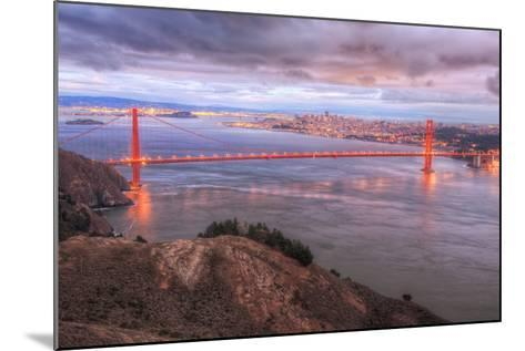Storm Coming In Over Golden Gate Bridge-Vincent James-Mounted Photographic Print