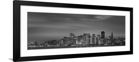 Skyline Viewed from Treasure Island, San Francisco, California, USA--Framed Art Print