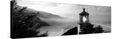 Lighthouse on a Hill, Heceta Head Lighthouse, Heceta Head, Lane County, Oregon, USA--Stretched Canvas Print