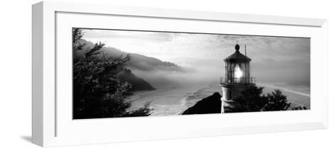 Lighthouse on a Hill, Heceta Head Lighthouse, Heceta Head, Lane County, Oregon, USA--Framed Art Print