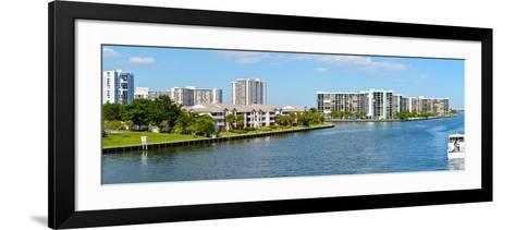Buildings on Intracoastal Waterway, Hollywood Beach, Hollywood, Florida, USA--Framed Art Print