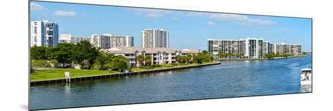 Buildings on Intracoastal Waterway, Hollywood Beach, Hollywood, Florida, USA--Mounted Photographic Print