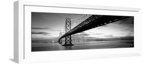 Twilight, Bay Bridge, San Francisco, California, USA--Framed Art Print