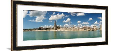 Three Towers at the Port of La Rochelle, Charente-Maritime, Poitou-Charentes, France--Framed Art Print