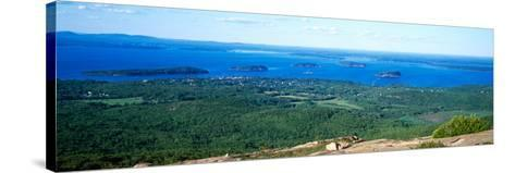 High Angle View of a Bay, Frenchman Bay, Bar Harbor, Hancock County, Maine, USA--Stretched Canvas Print