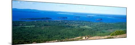 High Angle View of a Bay, Frenchman Bay, Bar Harbor, Hancock County, Maine, USA--Mounted Photographic Print