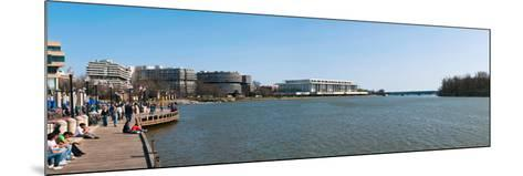 Visitors at Old Georgetown Waterfront, Potomac River, Washington Dc, USA--Mounted Photographic Print