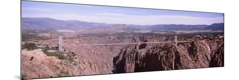Suspension Bridge across a Canyon, Royal Gorge Suspension Bridge, Colorado, USA--Mounted Photographic Print