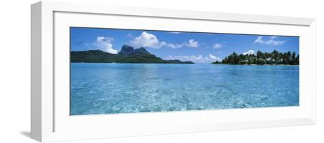 Motu and Lagoon, Bora Bora, Society Islands, French Polynesia--Framed Art Print