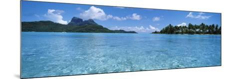Motu and Lagoon, Bora Bora, Society Islands, French Polynesia--Mounted Photographic Print