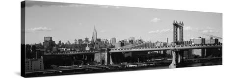 Bridge over a River, Manhattan Bridge, Manhattan, New York City, New York State, USA--Stretched Canvas Print