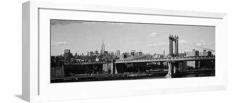 Bridge over a River, Manhattan Bridge, Manhattan, New York City, New York State, USA--Framed Art Print
