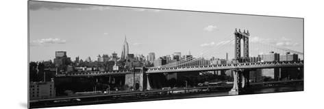 Bridge over a River, Manhattan Bridge, Manhattan, New York City, New York State, USA--Mounted Photographic Print