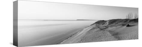 Sand Dunes at the Lakeside, Sleeping Bear Dunes National Lakeshore, Lake Michigan, Michigan, USA--Stretched Canvas Print