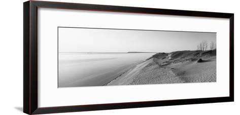 Sand Dunes at the Lakeside, Sleeping Bear Dunes National Lakeshore, Lake Michigan, Michigan, USA--Framed Art Print