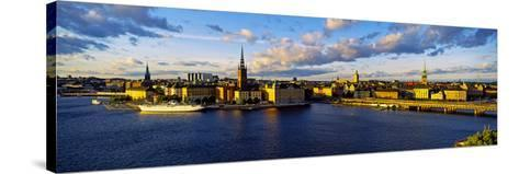 City at the Waterfront, Gamla Stan, Stockholm, Sweden--Stretched Canvas Print