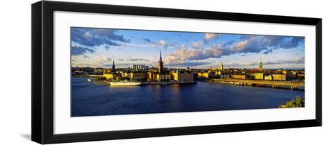 City at the Waterfront, Gamla Stan, Stockholm, Sweden--Framed Art Print
