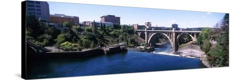 Monroe Street Bridge across Spokane River, Spokane, Washington State, USA--Stretched Canvas Print