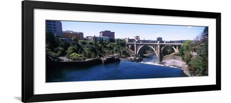 Monroe Street Bridge across Spokane River, Spokane, Washington State, USA--Framed Art Print
