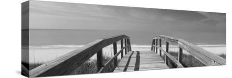 Boardwalk on the Beach, Gasparilla Island, Florida, USA--Stretched Canvas Print