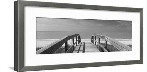 Boardwalk on the Beach, Gasparilla Island, Florida, USA--Framed Art Print