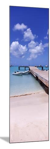 Boats Moored at a Pier, Sandy Ground, Anguilla--Mounted Photographic Print