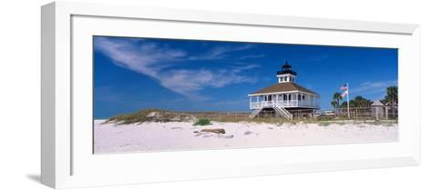 Lighthouse on the Beach, Port Boca Grande Lighthouse, Gasparilla Island State Park--Framed Art Print