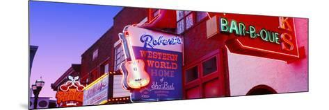 Neon Signs on Building, Nashville, Tennessee, USA--Mounted Photographic Print
