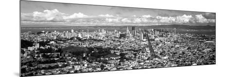 Cityscape Viewed from the Twin Peaks, San Francisco, California, USA--Mounted Photographic Print