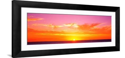 Sunset Perth Australia--Framed Art Print