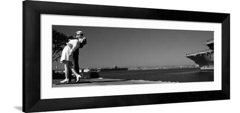 The Kiss Between a Sailor and a Nurse Sculpture, Unconditional Surrender--Framed Art Print