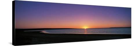 Sunset on Beach Australia--Stretched Canvas Print