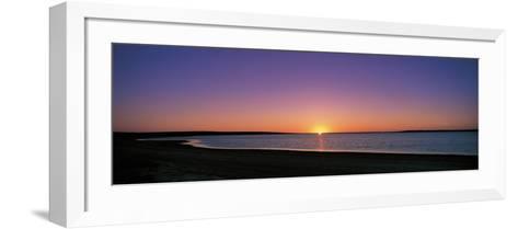 Sunset on Beach Australia--Framed Art Print