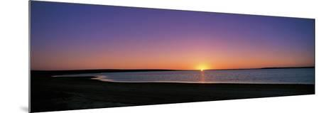 Sunset on Beach Australia--Mounted Photographic Print