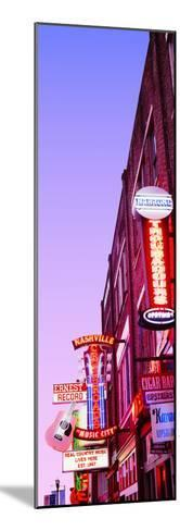 Neon Signs at Dusk, Nashville, Tennessee, USA--Mounted Photographic Print