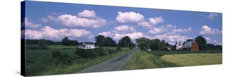 Road Passing Through a Farm, Emmons Road, Tompkins County, Finger Lakes Region, New York State, USA--Stretched Canvas Print