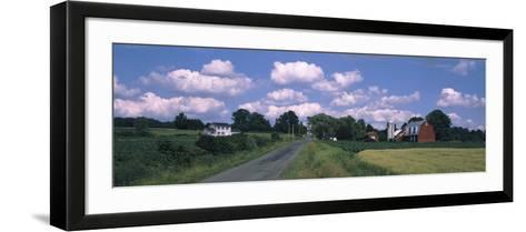 Road Passing Through a Farm, Emmons Road, Tompkins County, Finger Lakes Region, New York State, USA--Framed Art Print